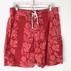 J.Crew Floral Swim Board Shorts Mens 33 #1773